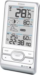oregon scientific bar208hg wh wireless weather station with humidity weather alert white photo