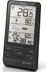oregon scientific bar208hg b wireless weather station with humidity weather alert black photo
