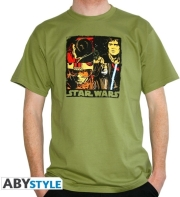STAR WARS T-SHIRT POP ART MAN SS GREEN L gadgets   παιχνίδια   t shirts