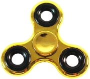 FIDGET SPINNER TOY - GOLD/BLACK METAL gadgets   παιχνίδια   διασκέδαση