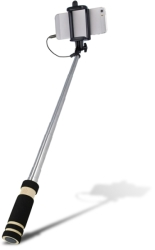 SETTY AUDIO JACK SELFIE STICK BLACK gadgets   παιχνίδια   κινητά   tablets