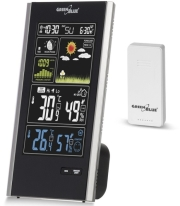 GREENBLUE GB520 WIRELESS WEATHER STATION DCF, PRESSURE, MOON PHASE, USB CHARGER  gadgets   παιχνίδια   μετεωρολογικοί σταθμοί