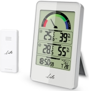 LIFE WES-203 WEATHER STATION WITH WIRELESS OUTDOOR SENSOR AND CLOCK WITH ALARM F gadgets   παιχνίδια   μετεωρολογικοί σταθμοί