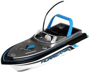 rc mini boat hurricane silver blue photo