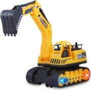 rc excavator manipulator yellow photo