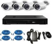 VANDSEC VK-A1104X13-P NVR KIT WITH 4XWATERPROOF IR BULLET CAMERAS 720P security   συστήματα παρακολούθησης