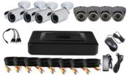 vandsec vk a1108hxs70 dvr kit with 4xwaterproof ir bullet cameras 4 x vandalproof ir dome cameras photo
