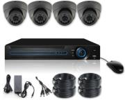 VANDSEC VK-A6104HDA13 DVR KIT AHD WITH 4 VANDALPROOF IR DOME CAMERAS 3.6MM 960P security   συστήματα παρακολούθησης