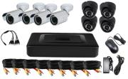 vandsec vk a1108hxs70 dvr kit ahd with 4 ir dome and 4 ir bullet cameras 36mm 960p photo