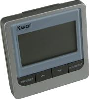 karce ld526 alarm clock silver photo