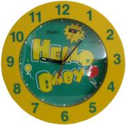 karce wl120 wall clock yellow photo