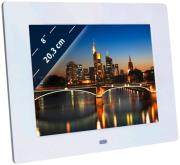 braun digiframe 850 8 photo frame with speaker white photo