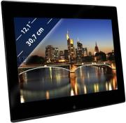 braun digiframe 1210 12 photo frame 4gb with speaker black acrylic photo
