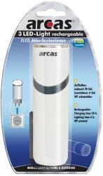 arcas 30700023 3 led light rechargeable photo