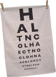 tea towel in tube eye chart design photo