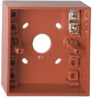 ge dmn787 surface mounting box with earth connector red photo