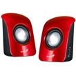 genius sp u115 stereo usb powered speakers red photo