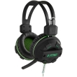 nod g hds 002 gaming headset with flexible microphone and green led photo