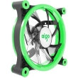 aigo z6 led fan 120mm green photo