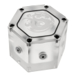 bitspower water tank hexagon with 6x g1 4 ig acrylic limited edition photo