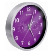 bresser mytime thermo hygro wall clock 25cm purple photo