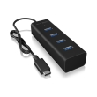 raidsonic icy box ib hub1409 c3 usb 30 type c to 4 port usb 30 hub photo