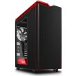 case nzxt h440 midi tower black red photo