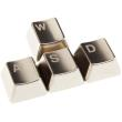 king mod metal keycaps wasd set silver photo