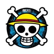 one piece mousepad skull in shape photo