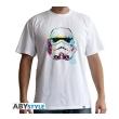 star wars t shirt graphic trooper man ss white l photo