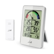 life wes 203 weather station with wireless outdoor sensor and clock with alarm function photo