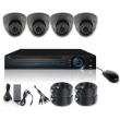 vandsec vk a6104hda13 dvr kit ahd with 4 vandalproof ir dome cameras 36mm 960p photo