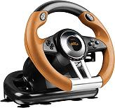 speedlink sl 4495 bkor drift oz racing wheel for ps3 black orange photo