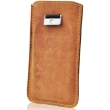 forcell leather case slim premium for samsung s5610 s5611 nokia 515 206 pull up brown photo