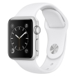 apple watch 1 42mm mnnl2 silver aluminium case with white sport band photo