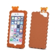 greengo silicon 3d back cover case cookie for apple iphone 5 5s brown 5900495489838 photo