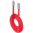 beeyo usb cable wave for apple iphone 5 6 7 red photo