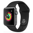 apple watch 3 gps 38mm space grey with black sport band photo