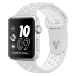 apple watch nike mq192 42mm silver aluminum case with platinum white band photo