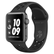 apple watch nike mqky2 38mm space grey aluminum case with anthracite black nike sport band photo