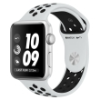 apple watch nike mql32 42mm silver aluminum case with pure platinum black nike sport band photo