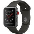 apple watch 3 lte mr302 42mm space gray aluminum case with gray sport band photo