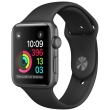 apple watch 1 mp022 38mm space gray aluminum case with black sport band photo