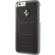 ferrari 488 debossed leather rear case for apple iphone 6 6s black red photo