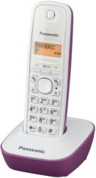 panasonic dect kx tg1611gr white purple photo