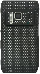 faceplate nokia n8 mesh shell black plastic photo