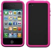 xtrememac tuffwrap accent iphone 4 pink black silicone photo