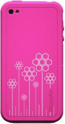 xtrememac tuffwrap tatu iphone 4 pink flower silicone photo