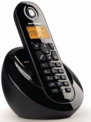 motorola c601 single digital cordless phone black photo