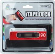 itape deck silicone case video stand for iphone 4 4s red photo